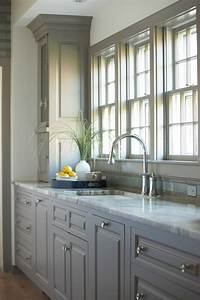 Great Ideas for Gray Kitchen Cabinets - Postcards from the