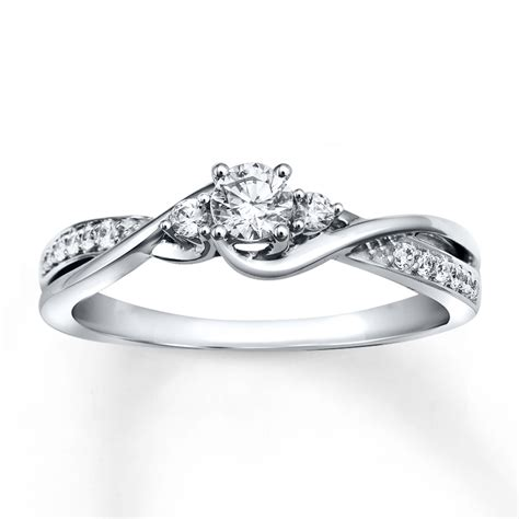 white gold engagement rings jared engagement ring 1 3 ct tw cut 10k white gold