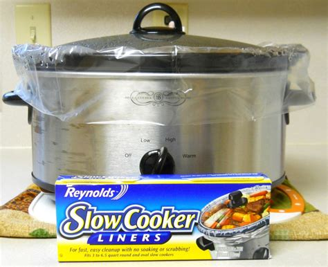 slow cooker liners reynolds pot crock cleaning easy clean crockpot should paper husband food parchment