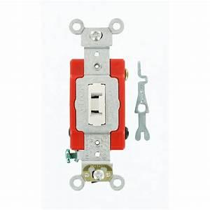 Leviton 20 Amp Industrial Grade Heavy Duty 4-way Locking Switch  White-1224-2wl
