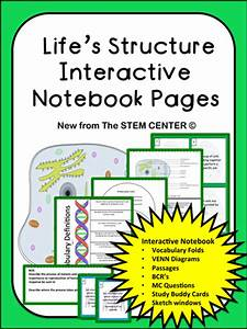 Life's Structure Interactive Science Notebook by ...