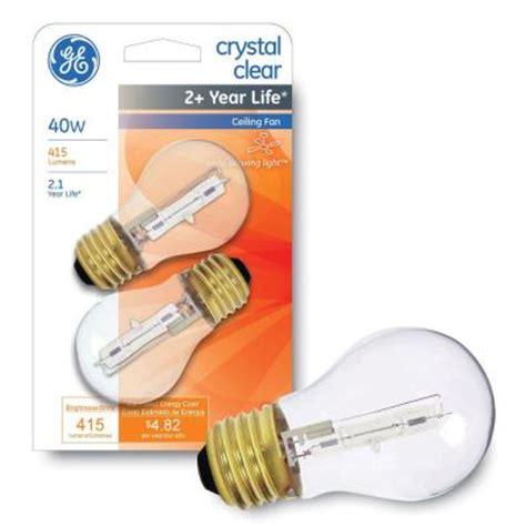 ge 40 watt halogen a15 ceiling fan light bulb 2 pack