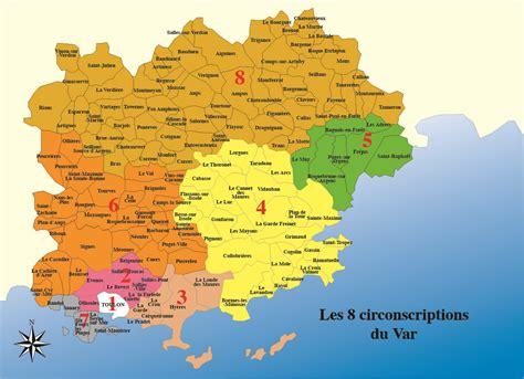Carte Du Var Avec Toutes Les Villes by D 233 Partement Du Var Villes 187 Vacances Arts Guides Voyages