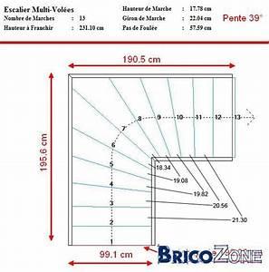 Calcul Escalier Quart Tournant : calcul des marches en angles dans 1 4 tournant ~ Melissatoandfro.com Idées de Décoration