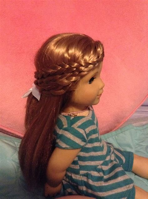 a cute and easy hairstyle for your american girl doll