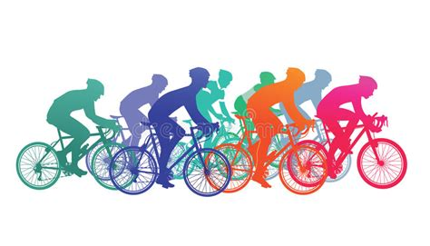 Cyclists In Bike Race Stock Vector. Illustration Of