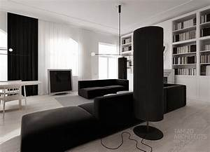 Monochrome Living Room Design Interior Design Ideas