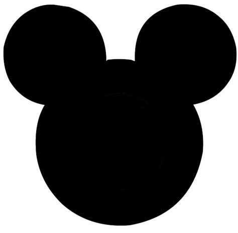 Mickey Mouse Silhouette Template by Printable Mickey Mouse Cliparts Co