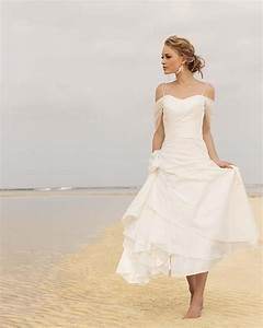 2015 generous white iovry tea length beach wedding dresses With spaghetti strap beach wedding dress