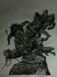 Hades God of War Drawings