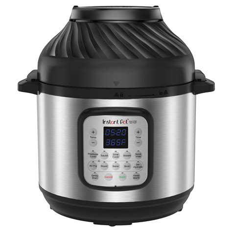 fryer air pot instant qt cooker combo pressure 8qt epc electronic stainless steel
