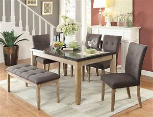 Homelegance Huron Dining Set - Faux Marble Top