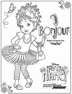 Fancy Nancy Coloring Page Activity