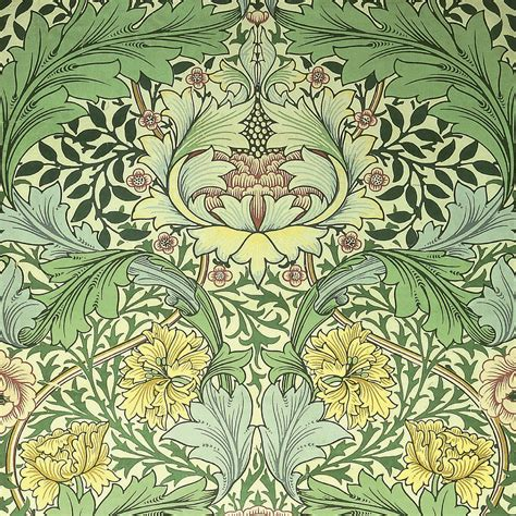 carnations design tapestry textile by william morris