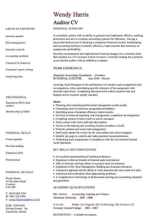 Audit Resume by Auditor Resume Sle Http Resumesdesign