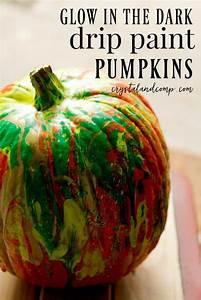 glow, in, the, dark, drip, paint, pumpkins