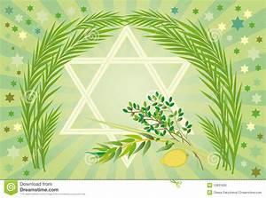 Jewish Holiday Of Sukkot Holiday Stock Vector - Image ...