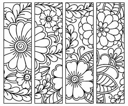 Bookmarks Printable Coloring Bookmark Patterns Children Zentangle