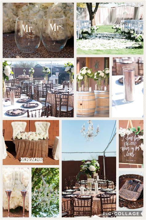 Rose gold wedding Rose gold wedding decor Rustic