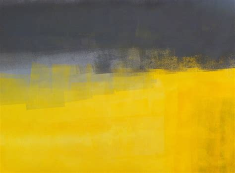 Acrylic Abstract Art Painting Yellow And Grey Modern