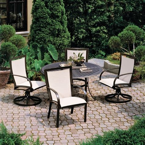 winston metropolitan sling patio dining set seats up to