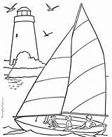 Coloring Pages Boat Sail Books Sailboat Adult Boats Printable Beach Boating sketch template