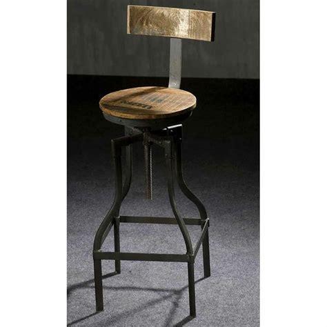 tabouret de bar style industriel mobilier style