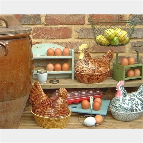 egg racks crocks  vintage kitchen store
