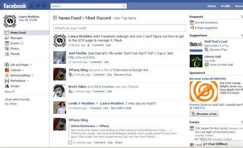 Facebook Homepage Layout