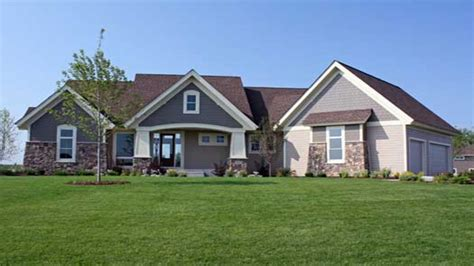 Craftsman House Plans One Story by Craftsman Style House Plans With Basement Single Story