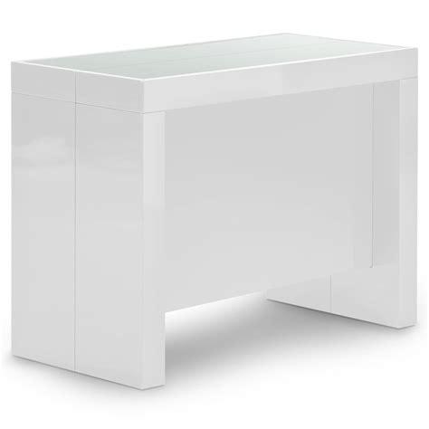 console extensible laqu 233 e blanche 12 places lestendances fr