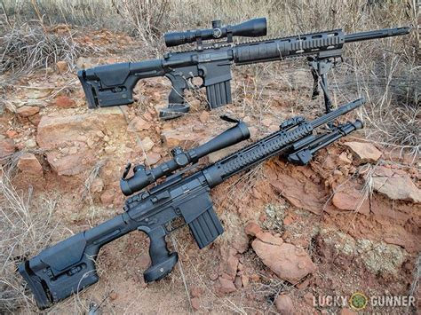Dpms Gii Sass Vs Gen 1 Sass Photographed On The Ground