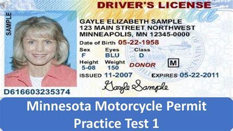 Minnesota Motorcycle Permit Practice Test 1 Youtube