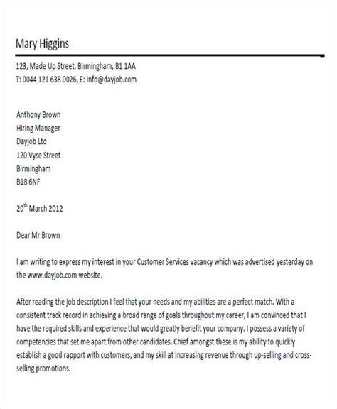 exle cover letter for cover letter customer service advisor exle 28 images