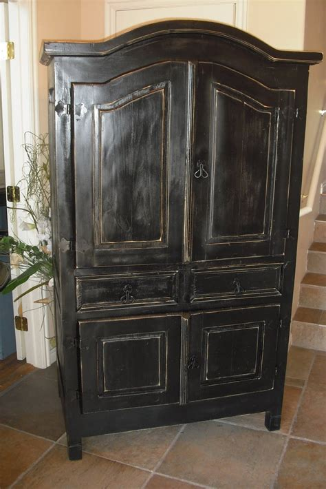 Black Wardrobe Dresser by Black Armoire All Things Black Black And