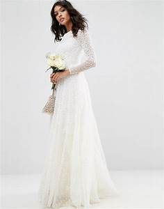 asos asos bridal embellished long sleeve maxi dress With long sleeve maxi dresses for weddings