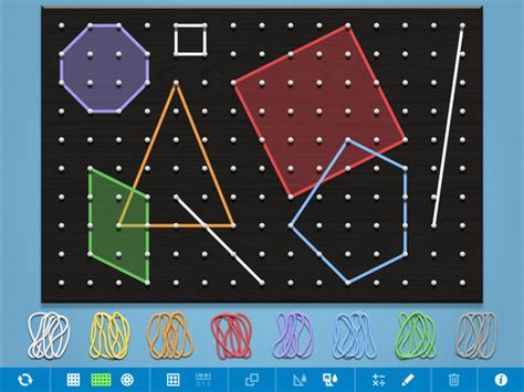 geoboard ipad math app learning games shape mathematical center apps tool area perimeter elementary technology educational bands children mathlearningcenter thinking
