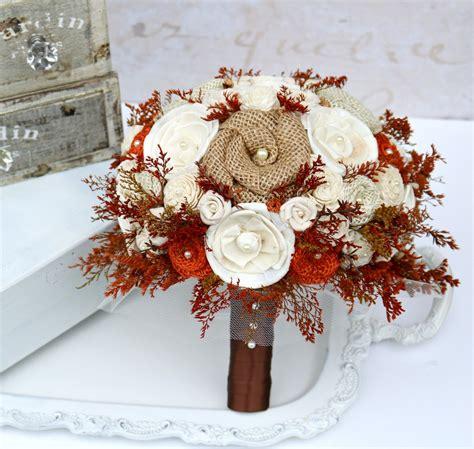 Autumn Orange Bride Bouquet Fall Bridal Bouquet Rustic