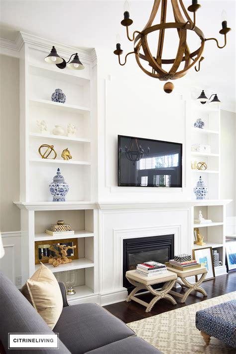 Bookshelves As Room Focus by Citrineliving Living Room Bookshelves