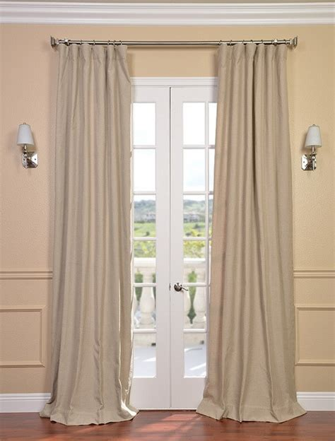 textured linen blend back tab pole pocket curtains