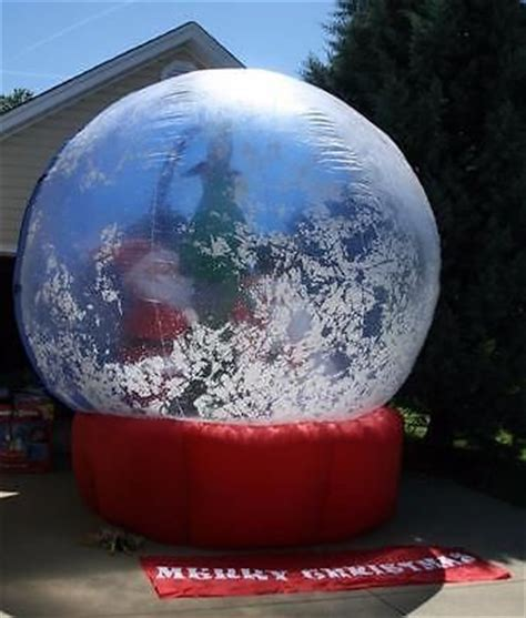huge airblown inflatable snow globe  santa christmas