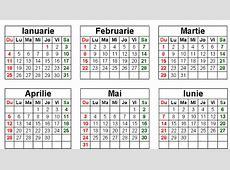 Calendar 2017 Romanesc Printabil Calendar Template 2019