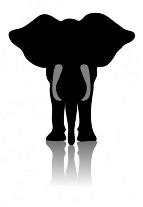 elephant silhouette front frente de elefante africano siluetas de vector vector