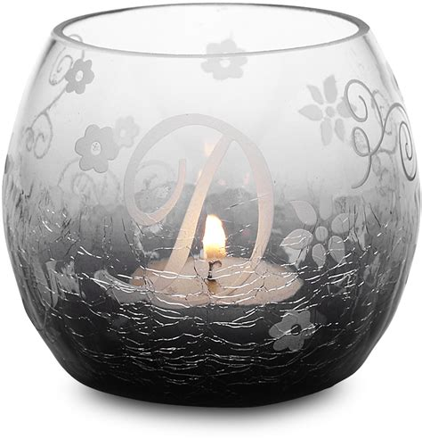 black glass candle holder quot d quot black glass candle holder ebay
