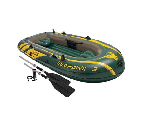 Seahawk 6 Person Inflatable Boat by Intex Seahawk 3 Person Inflatable Boat Set 68380ep