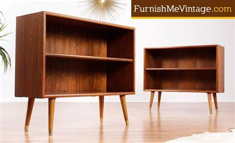 Small Mid Century Modern Bookcases   (2 Available)