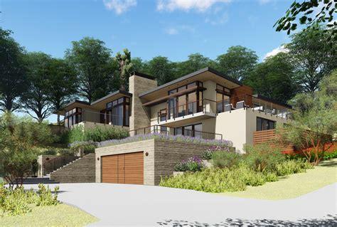 Modern House Built Into Hillside