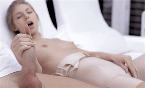Hot Blonde Strokes A Big Cock While Playing With Handyfan