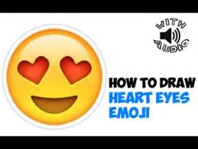 Steps to How to Draw Heart Eyes Emoji