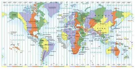 Mappa Del Fuso Orario Del Mondo Ora Mondiale Ufficiale